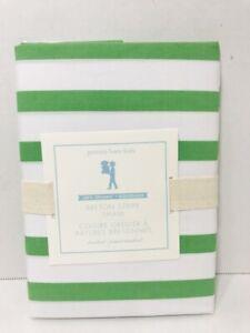 Pottery Barn Kids Breton Stripe Sham Green Standard Size 100% Organic NEW W/ Tag