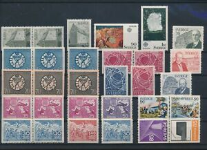 LN72202 Sweden mixed thematics nice lot of good stamps MNH
