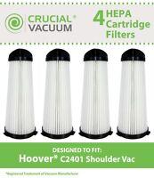 4 Replacements Hoover C2401 Shoulder Vac Filters Part # 2KE2110000, 2-KE2110-000