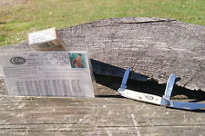 CASE 2000 STAG STOCKMAN KNIFE JACK DEMPSEY BOXING POSTCARD 2X SHIELD 1/40 53087