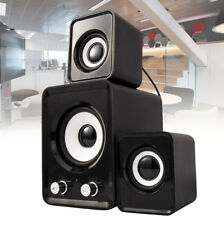 Computer 2.1 PC Speakers Sound System Subwoofer USB Powered Bass Volume Control