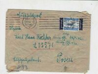 germany 1940s air field post stamps cover ref 19083