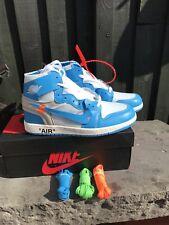 Nike Air Jordan 1 x Off-White Blue UNC Size UK 8.5 / US 9.5 BNIB ONE DAY LISTING