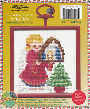 Cross Stitch Mini Kit ~ M.C.G. Angel and Nativity w/Frame #15313