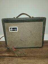 Vintage Harmony Model H303A. Guitar Amp Amplifier Turns On, Tubes Glow.