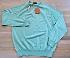 985$ Loro Piana Turquoise Cashmere Sweater Size 58 or XXXL Made in Italy