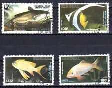 Poissons Sénégal (13) série complète de 4 timbres oblitérés