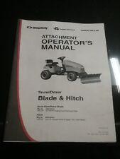Simplicity Agco Allis Massey Ferguson Snow Plow Dozer Blade Manual Owners Manual
