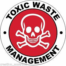 Hard Hat Toxic Waste Management  Sticker Sign Decal Public Safety 50mm WHS OHS