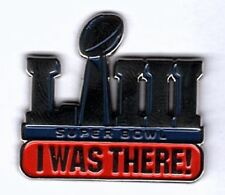 """Super Bowl 53 """" I Was There """" Pin Collector Fan Superbowl Liii Ships Now!"""