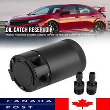 2-Port Oil Catch Can Tank Reservoir Breather Baffled Universal