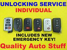 Virgin Toyota Lexus Scion Smart Key Unlock Reflash Reset Keyless FOB Prox