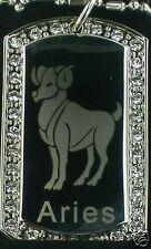 ARIES zodiac horoscope star CZ  Dog Tag  Necklace