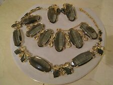 Vintage Original Signed Schiaparelli Necklace-Bracelet-Earring Set   Price Cut!