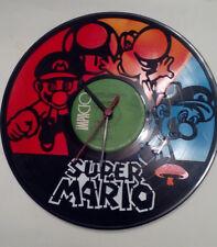Super Mario Laser Etched Multicolor Record Album Wall Clock (Ships Same Day)