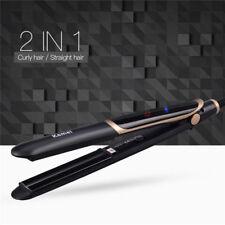 kemei 2 in 1 Infrared Flat Iron Hair Straightener Curler Professional Ceramic