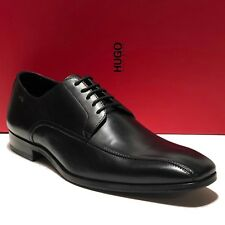 HUGO BOSS Black Oxford Leather Dress Shoes 13 46 Mens Fashion Casual .5 Bicycle