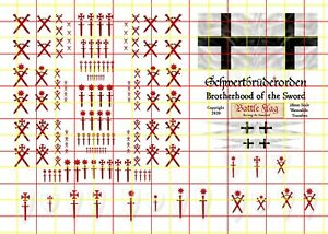 Teutonic Livonian Brothers of the Sword Transfers Decals for Fireforge Minis