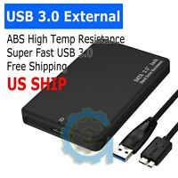 "2.5"" SATA USB 3.0 BLK Hard Drive Disk HDD SSD Enclosure External Laptop Case"