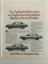 Audi 4000 Vintage 1982 Print Ad