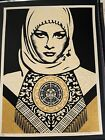 Shepard Fairey Signed Arab Woman Gold Rare 2006 Obey Giant Art Print No Reserve