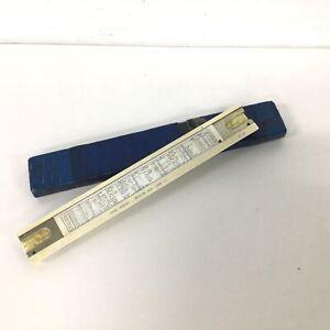 Vintage Sun Hemmi Japan Slide Ruler with Original Case #404
