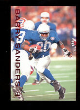 1995 Pacific Gridiron BARRY SANDERS Detroit Lions Red Foil Card
