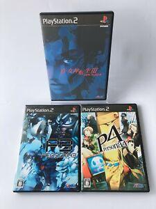 Persona 3 4 III IV Shin Megami Tensei 3 Nocturne Sony Playstation 2 PS2 ATLUS