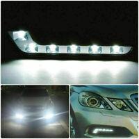 Per Auto 12V Fendinebbia Flessibile 6 LED DRL Luce di Marcia Diurna Guida