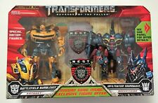 Transformers ROTF Battlefield Bumblebee and Infiltration Soundwave NEW SEALED!!!
