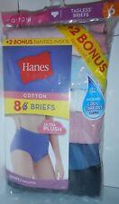 Hanes P840WB Tagless Briefs QTY 8 Panties