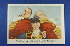 1959 Fleer - 3 Stooges - #90 What's wrong - No more chairs in this room - Ex/Mt