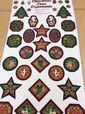 Woodrow Studio-Natale Ornamenti Pannello - 100% COTONE - 60cm Pannello