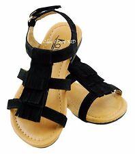 Little Girls Pageant Fringe Summer Color Pink JR Toddler Flats Gladiator Sandals