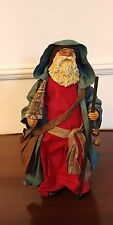 Clothique Possible Dreams Santa 1985 with Rare Blue Robe Tree, Bag & Staff