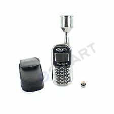 Cell Phone Flask With Belt Clip Leather Case And Funnel Alcohol Liquor Beverage