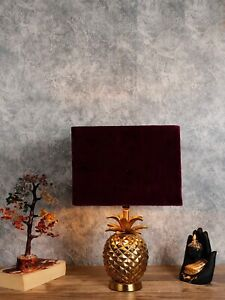 Burgundy Solid Handcrafted Table Top Lamp Shade