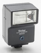 Vivitar 2600-D Auto Thyristor Blitz Flash Aufsteckblitz analog