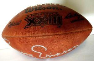 Joe Montana Boomer Esiason Signed Auto Autographed SB XXIII Football Ball 49ers