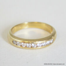 Bague Demi Alliance Or 18k 750 Diamant- 4.4grs- 56 - Bijoux occasion
