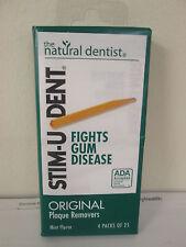 Stim-U-Dent Plaque Removers, Mint Flavor - 4 Packs of 25 (100 Picks)