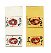 2 Old Maguire & Paterson (N.I)  c1900s matchbox labels Bo Peep size 115x51mm.