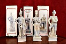 3 Vintage Fine Quality Glazed Porcelain Soldiers in Boxes