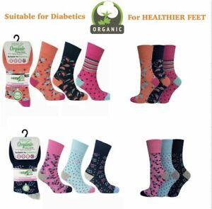 """ORGANIC HEALTHY COTTON Mens SOCKS /""""COLOUR BLACK/"""" SUITABLE FOR DIABETICS UK 6-11"""