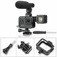 For GoPro Hero 8 Camera Metal Alloy Protective Frame Shell Housing Case Cage DES