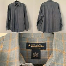 Brooks Brothers Mens Flannel Long Sleeve Shirt Size Large