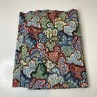 vintage+curtain+panel+valance+seashell+print+looks+like+waverly+fabric+print