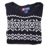 CHAPS Boys Crew Neck Jumper Sweater 6-7 Years Black Cotton