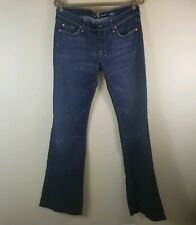 7 Seven for All Mankind 31 DOJO Flare Wide Leg Jeans Denim Dark Wash