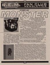 R.E.M. Fanclub Newsletter October 1994